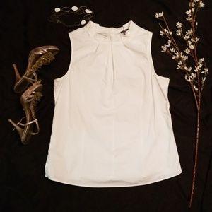 Gap white sleeveless blouse